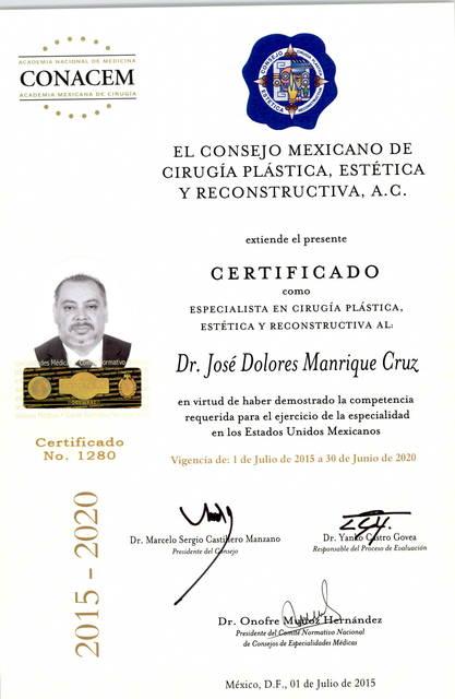 Dr. José Dolores Manrique Cruz
